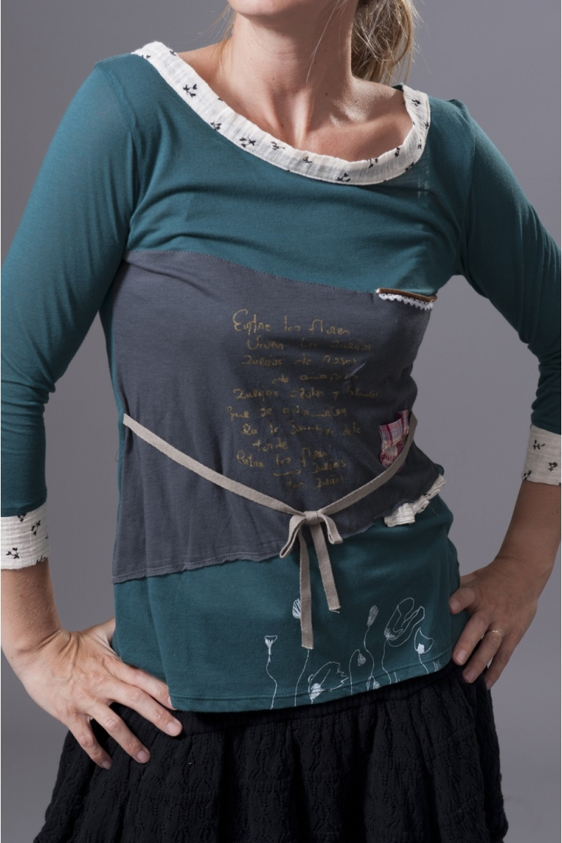Tee-shirt Bleu lagon Ian Mosh