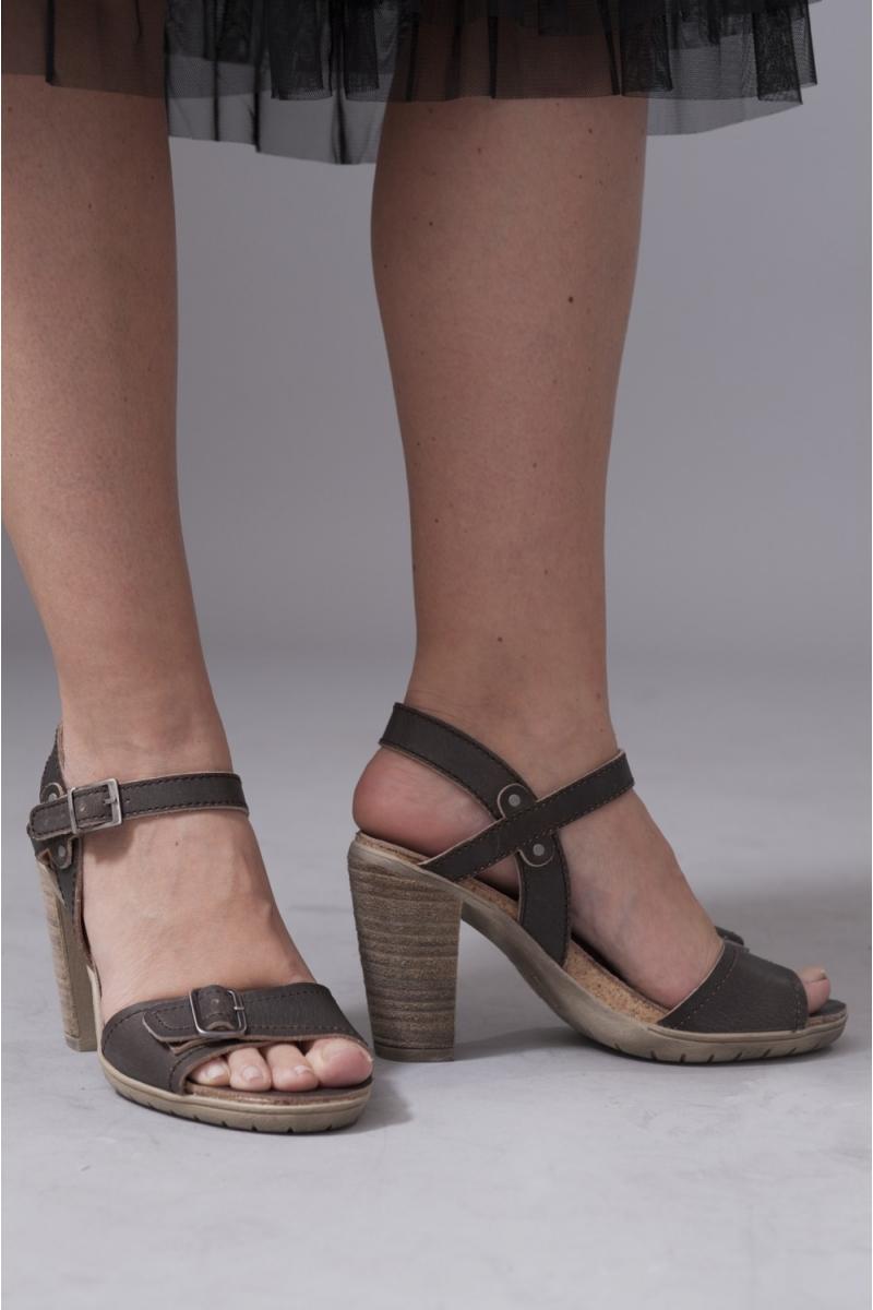 Chaussures hautes nu-pieds Brown Palladium