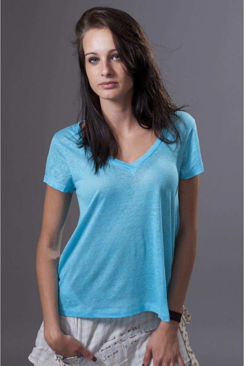 Tee-shirt col V lagon Et Compagnie